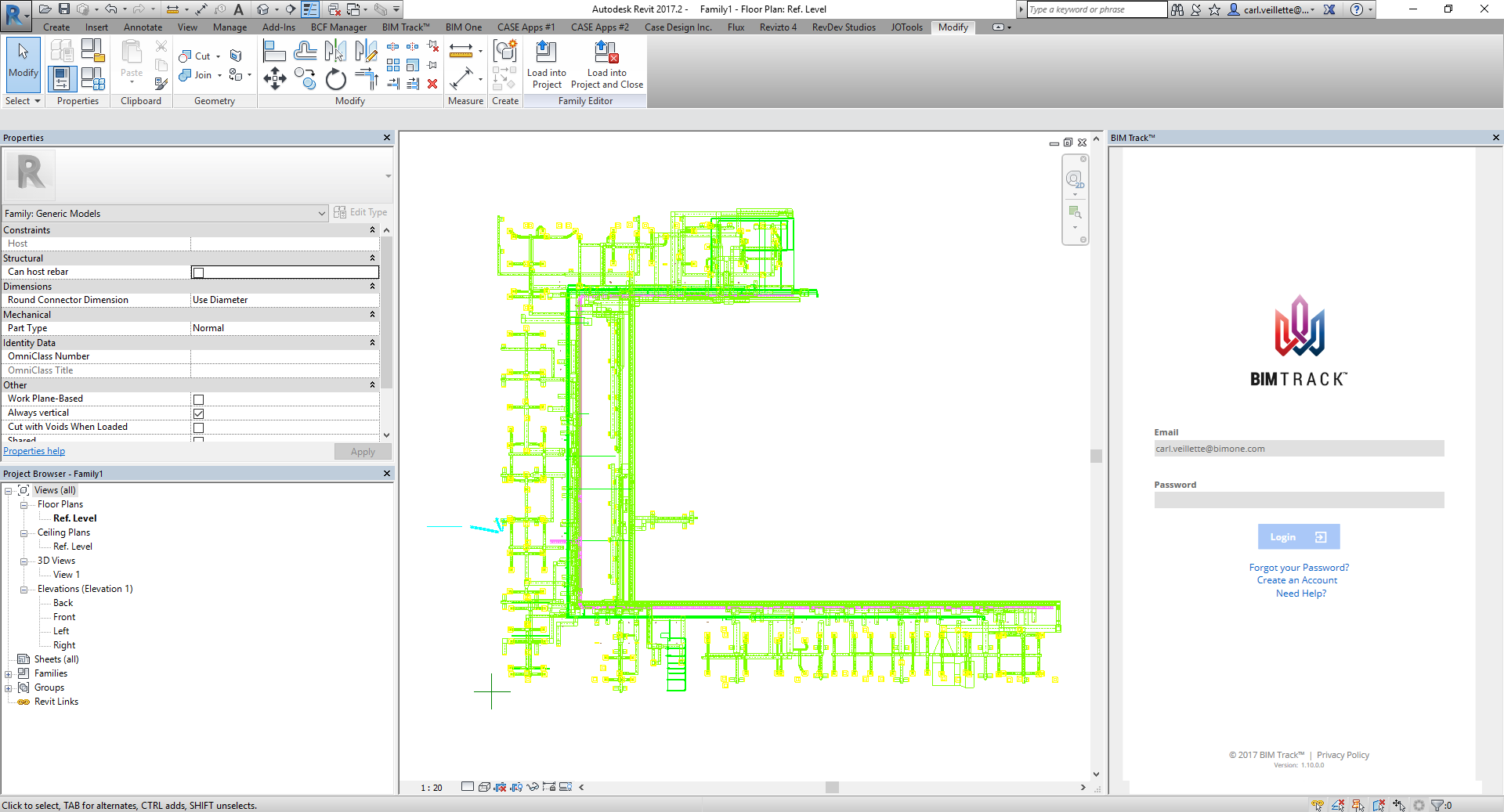 3D DWG to BIM Track