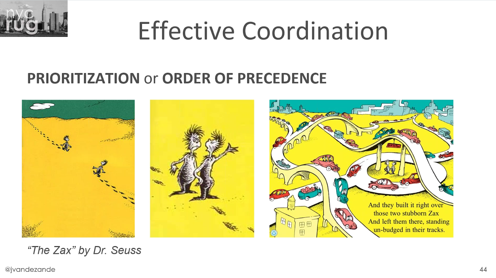 Effective coordination, priorization or order precedence